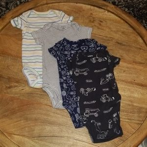 4 Patterned Onesies